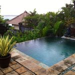 The pool and view from my villa