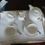 Tea tray from buttler service