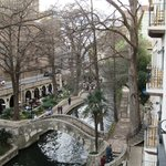 View from our 3rd floor room of the Riverwalk.