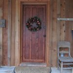 The welcoming front door of the cottage