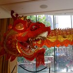 Dragon display at Wynn - Chinese New Year