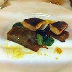 sea bass with eggplant
