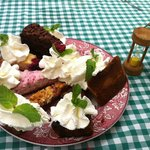 Delicious assortment of cakes (reserve a spot for the