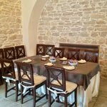 tavolo della prima colazione nella ex-cappella