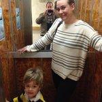 a tiny elevator, but it