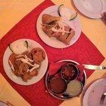 vegtable samosa and vegtable pakoras