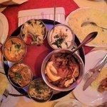 shahi baingan and vegtable thali