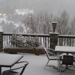 Winter view on the terrace