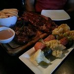Flame Mixed Grill for 1 & vege skewers