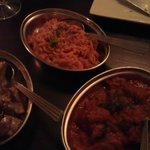 Beef in Tomato, Pork in Red wine, Greek rice