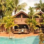 spa and massage hut at pool