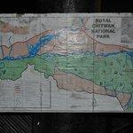 Royal Chitwan National Park Area map