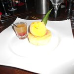 chargrilled pineapple, spicy mango salsa and mango sorbet