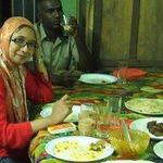 At Siyad House for dinner