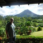 Arenal volcano from our room's patio
