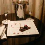 "We opted for the ""Romance Package"" and this was one of the many surprises!"