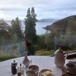 breakfast looking over Loch Fyne
