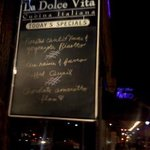 Outside La Dolce Vita
