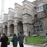entrance to Hagia sofia Blue mosque