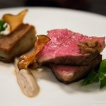 New York Steak - Hedgehog Mushrooms and Potato Mille Feuille