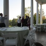The rehearsal dinner on the porch
