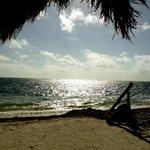 La playa desde temprana hora.