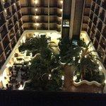 Sheraton Suites Tampa Airport -- lobby at night