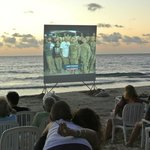 Super Bowl on the beach