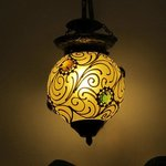One of the lamps in our room. Lovely decoration and lighting.
