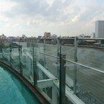 Blick vom Poolbereich
