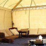 The tent where I had my yoga classes