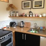 lovely kitchen stocked up with everything we needed for our
