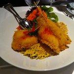 Shrimp und Nudeln