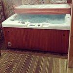 Hot tub at lodge 16!