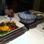 Grünes Curry und Curry mit Rind