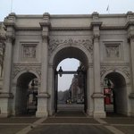 marble arch. opposite the hotel.