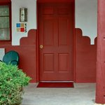 Pueblo motif of room entrance