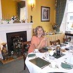 Desayunando en Guest Garlands House.