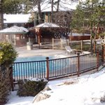 Private hot pool for Lodge guests
