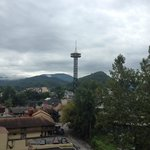 gatlinburg needle from balcony
