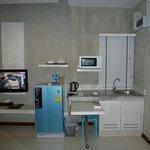 Fernsehr und Kochnische