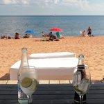 Beach lounge.