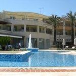 The hotel area