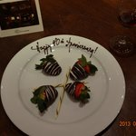 Anniversary gift from The Willows Hotel