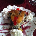 blueberry pineapple upside down cake.. third course
