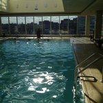 sunny skylit pool
