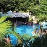 Shady pool bar