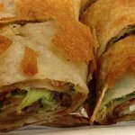 beef roll: a close-up