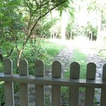 gate outside the guesthouse