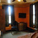 Orange corner room
